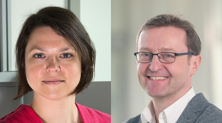 Interdisciplinary speaker duo: Jun.-Prof. Maria Wirzberger (Institute of Education Science) and Prof. Steffen Staab (Cluster of Excellence SimTech, Institute for Parallel and Distributed Systems)