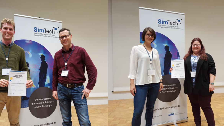 Viviane Klingel and Samuel Tovey: The winners of the SimTech Best Paper Award